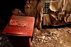 infectious waste (chasingcars36) Tags: urban chicago abandoned hospital illinois decay urbanexploration southside peelingpaint exploration urbex abandonedhospital infectiouswaste