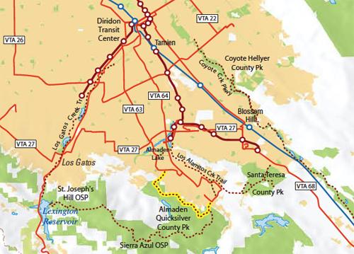 South Bay transit map