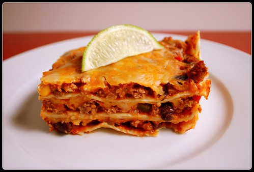 Mexican Lasagna side view