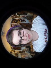 You better lose yourself, (ytsirKGaunt.) Tags: glasses raw fisheye posters myroom swedensverige panasoniclumix loseyourself darkbrownhair therealslimshady inneedofashower purplebeanie chiggachiggaslimshady ytsirkgaunt