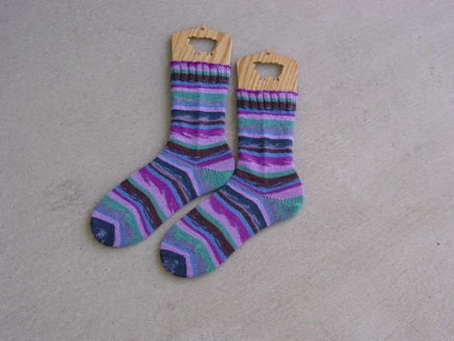 Stripey Regia Socks