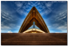 Sydney Opera House (Sam Ili) Tags: light sky house color building art architecture clouds canon opera soft sydney australia nsw operahouse hdr orton sydneyoperahouse photomatix explored 450d canon1022mm3545
