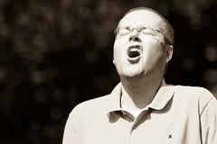 Aaaargh (beta karel) Tags: portrait bw man canon eos glasses scream 2009 betakarel 40d betakarel