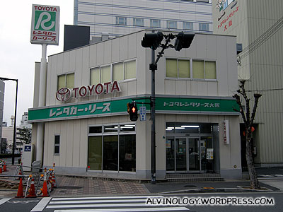 The Toyota car rental place which is walkable from our hotel