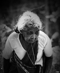 Kadvul Thantha Alagiya Vaalvu! (TheZionView) Tags: people bw copyright india photoshop nikon gimp sigma oldlady 70300mm vignette bnw tamilnadu cs3 d40 krishnagiri rawconverter iloveindia ilovebw prabeesh thezionview prabeeshphotography indiaacountryfulloflife