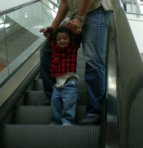 First time on the escalator
