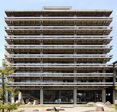 KAGAWA PREFECTURE OFFICE: Kenzo Tange, Takamatsu, Kagawa, 26 May 1958 (wakiiii) Tags: japan architecture nikkor 建築 f4 1224 d40 nikkor1224mmf4gifed