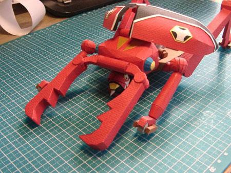 Time Kuwagattan Papercraft 02