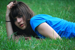 Explored! (raychel sonveeco.) Tags: selfportrait girl grass teenager laying 55200mm nikond60