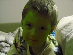 Little alien boy