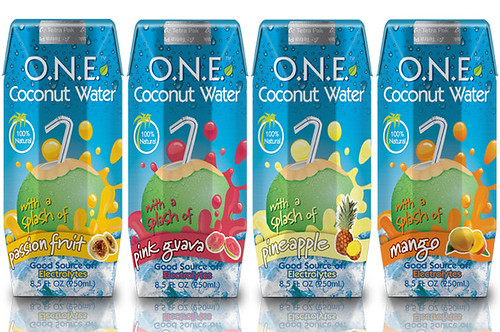 O.N.E.™ coconut water with a splash