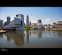 Cleveland's Inner Harbor (Don Iannone) Tags: ohio summer water museum harbor nikon flickr downtown lakeerie cleveland nfl officebuildings cleveland