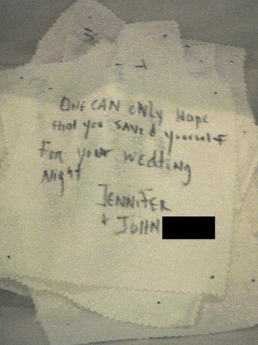 One can only hope you saved yourself for your wedding night