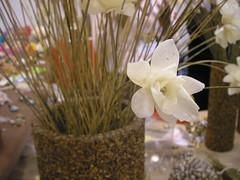 Flor feita com escama de peixe