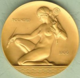 American Watercolor Society Award Medal obverse