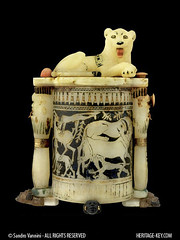 The Cosmetic Jar with Recumbent Lion from the Tomb of King Tutankhamun (KV62) (Sandro Vannini) Tags: art photography kingtut tomb egypt vessel vase cosmetics boyking artefact tutankhamun bes beliefs egyptians kv62 howardcarter amarnaperiod recumbentlion heritagekey kingtutvirtual sandrovannini cosmeticjar cosmeticjarwithrecumbentlion keyobject94