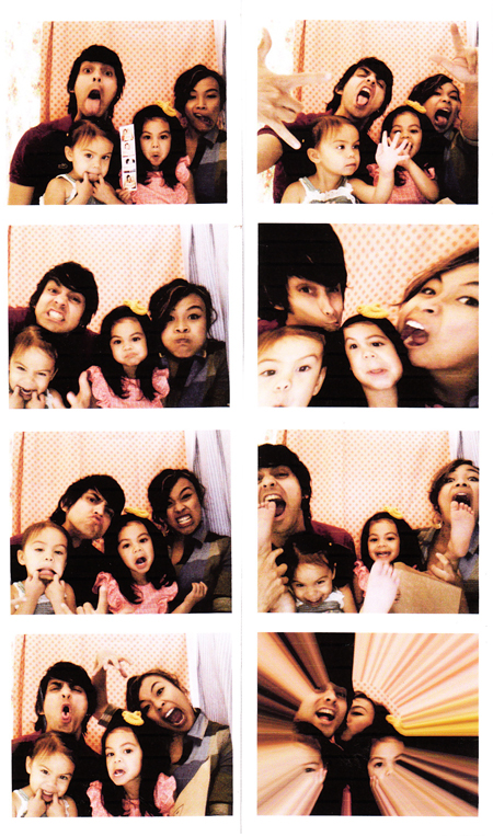 home photo booth strips