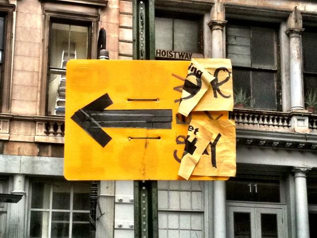 left arrow #walkingtoworktoday