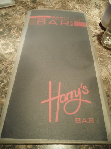 Harry's Bar Menu