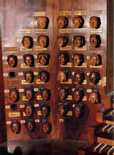 hamburg-jakobi Schnitger organ, console 1959
