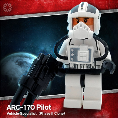 Lego ARC-170 Pilot custom minifig