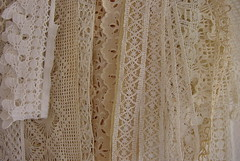 Lace trims 3 (ivoryblushroses) Tags: white lace crochet cream ivory bobbin embroidered fillet ecru trims
