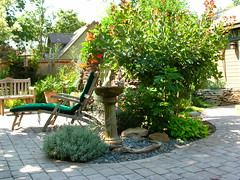 Water Feature (boisebluebird) Tags: flowers flower michael birdbath landscaping boise patio waterfeature landscapedesign toolson favoritegarden syringacompany michaeltoolson boisebluebirdcom httpwwwboisebluebirdcom boiselandscaping boisegardener