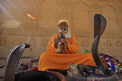 Snake Charmer (Max Loxton) Tags: old pakistan portrait heritage yellow ancient culture ppg snakes sindh snakecharmer makli yasirnisar towardspakistan maxloxton