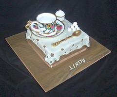 Time for Tea (Deliciously Decadent (Taya)) Tags: birthday cup cake table tea spoon bowl sugar cloth saucer