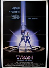 Tron advance movie poster. Tri-fold