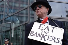 What's for dinner? (Blenford) Tags: city london nikon protest climatechange banks liverpoolstreet rbs bankers d700 climaterush