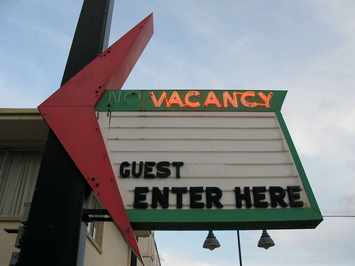 No Vacancy Motel Sign