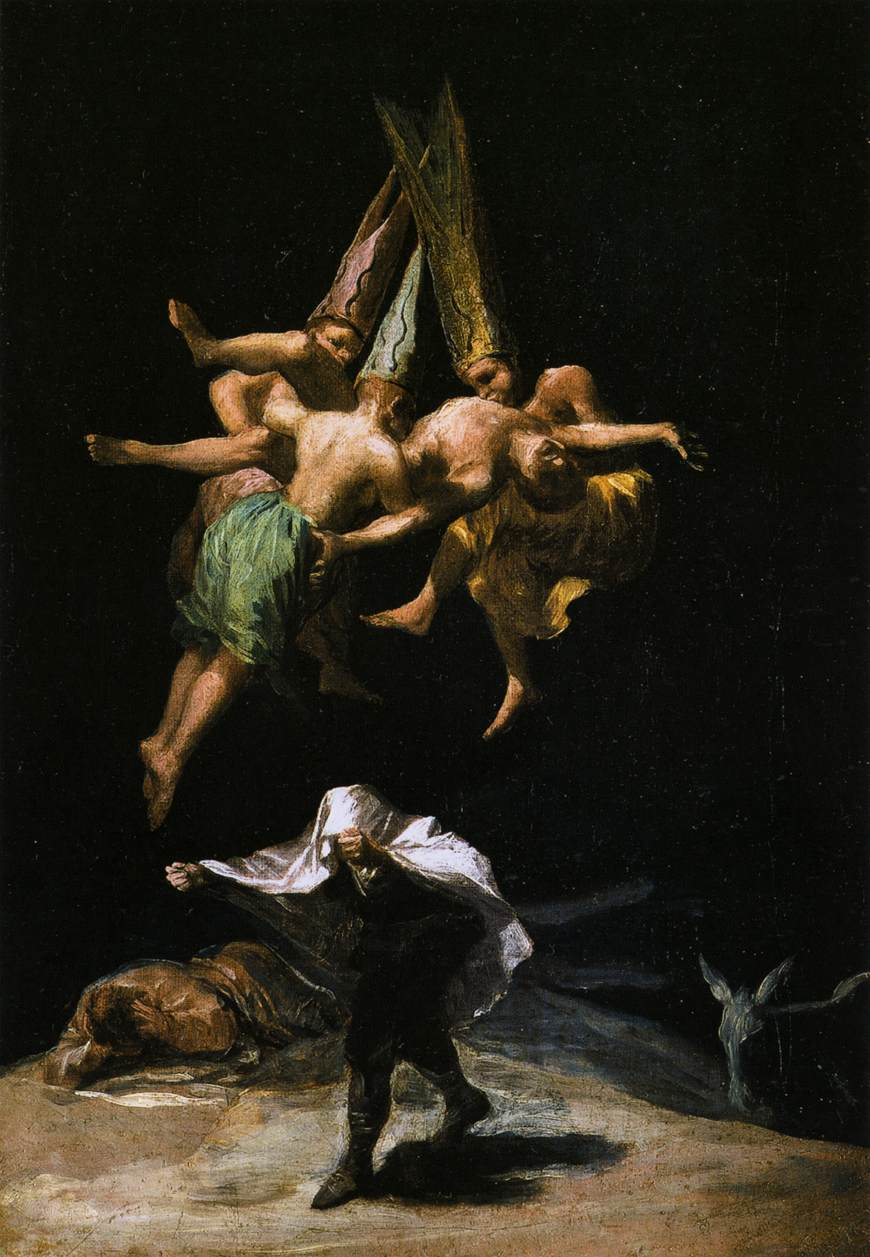Witches in the air Goya