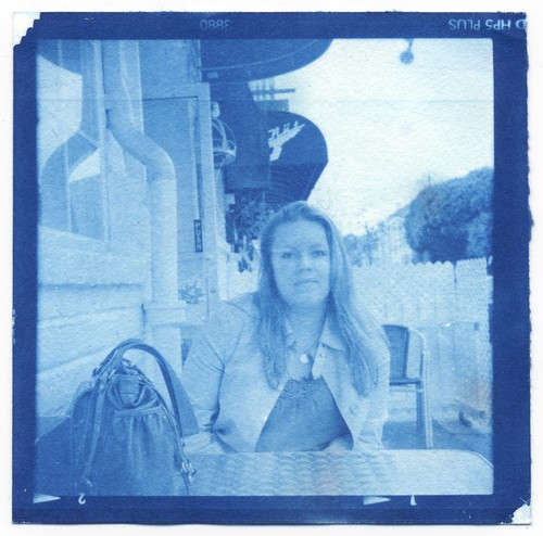 Cyanotype Anne At Lunch