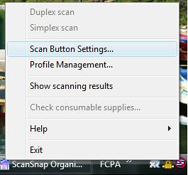 1-Scan Button Settings
