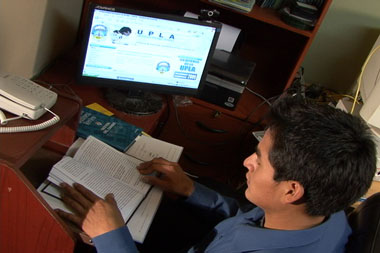 Educación a distancia de la UPLA