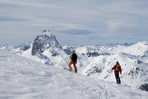 Pic du Midi d'Ossau vu depus le vallon de Gabardère