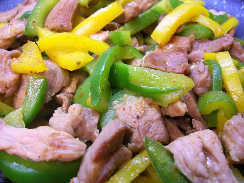 colored pepper stir-fry