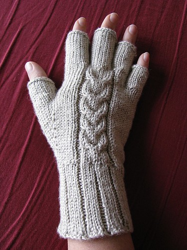 TulipCable Fingerless Glove