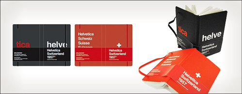 Helvetica Moleskine in Black & Red