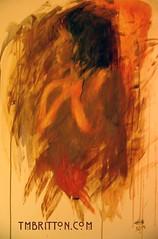 Huge 4 x 2 acrylic painting