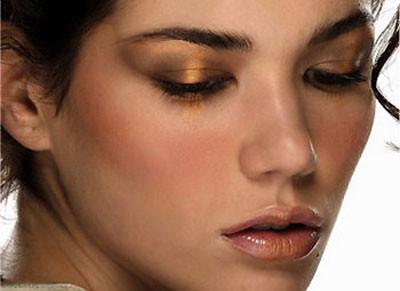Color dorado en los ojos