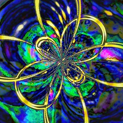 Tie a Yellow Ribbon (_kimmg_) Tags: pink blue wild abstract color colour green yellow square colorful neon bright vivid round psychedelic loud bold colourmania kimmarieg