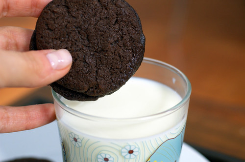 homemade oreos & milk