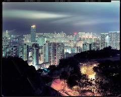 Hong Kong #26 (Thomas Birke) Tags: city blue man berlin night analog tin view kodak thomas large 8x10 300mm hong kong hour format heidelberg ho portra birke schneider kreuznach drumscan 160nc primescan d8200