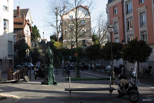 Place Octave Chanute, entrée du quartier la Campagne à Paris