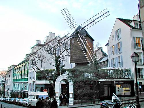fr03b061 Montmartre Paris, Moulin de la Galette 2003
