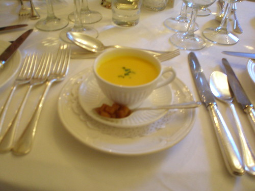 Amuse-bouche - carrot and orange soup