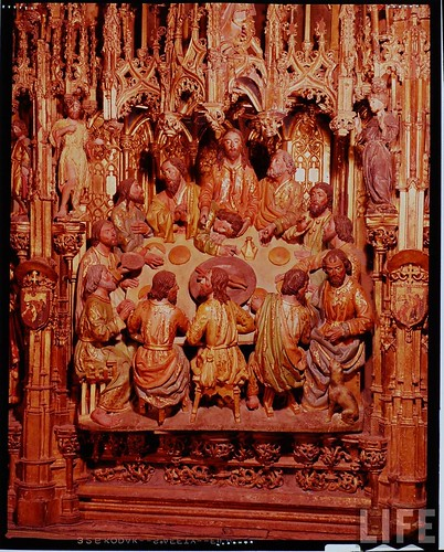 Detalle del altar mayor de la Catedral de Toledo en 1963. Fotografía de Dmitri Kessel. Revista Life (6)