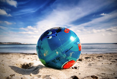 Beach Ball (Semi-detached) Tags: ocean blue shadow sea sky sun hot beach ball coast sand waves finding nemo fife ballon sunny disney estuary plastic forth inflatable beachball firth inflateable aberdour